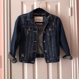 Abercrombie Kids Girls Dark Wash Jean Jacket